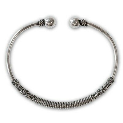 Viking Armlet Silver 925 Men's Women's Bangle Medieval Silver Jewellery