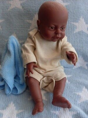 PETERKIN 16ins NEWBORN ETHNIC BABY BOY DOLL ANATOMICALLY CORRECT  #17