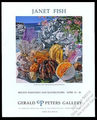 1991 Janet Fish By The Sea painting Santa Fe gallery vintage print ad