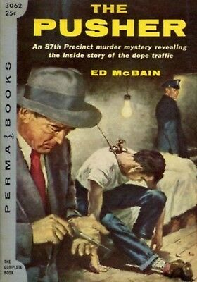 MAGNET PAPERBACK BOOK Cover Reproduction 1956 The Pusher Ed McBain