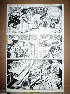 WEREWOLF ATTACK Original FRANK SPRINGER `75 Cougar Superhero vs Wolfman Art Page