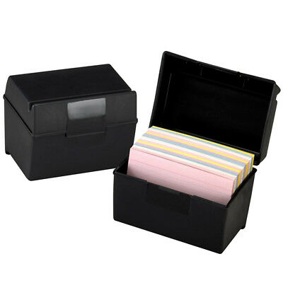 Oxford Plastic Index Card Box 4X6