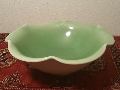 1937 Rookwood Arts & Crafts pottery bowl antique scalloped vtg green antique