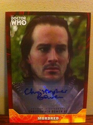 Topps Dr Who Signature Autograph CHRISTOPHER BOWEN As Mordred RED BORDER 5/5