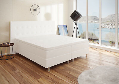 boxspringbett 160x200 eur 96 00 picclick de. Black Bedroom Furniture Sets. Home Design Ideas