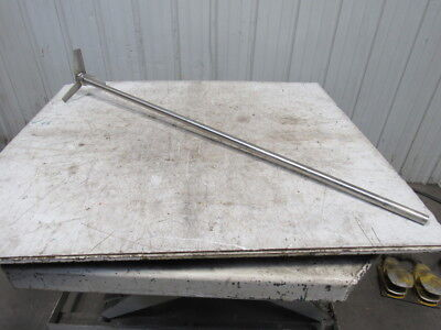 """1"""" Dia. Stainless Steel Mixing Shaft 53.5"""" Long W/10"""" Blade"""