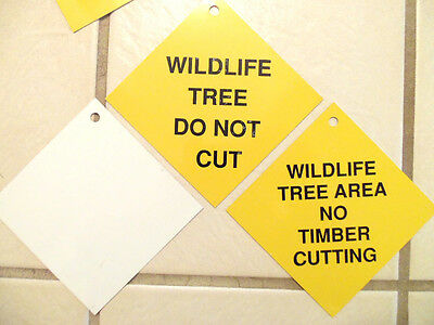 10 Mixed Lot Vintage Forest Park - Wildlife Tree Do Not Cut Timber Property Sign