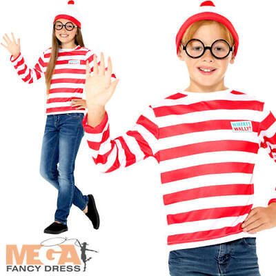 Whereu0027s Wally Instant Kit Kids Fancy Dress Book Day Week Childs Kids Costume Set  sc 1 st  PicClick UK : childrens wheres wally costume  - Germanpascual.Com