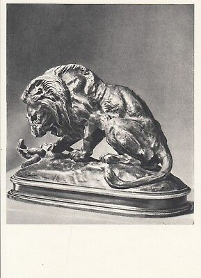 Postcard - Antoine-Louis Barye / sculpture