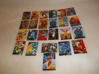 Marvel  Fleer Ultra Spiderman Cards 1995 x 24 Mixed