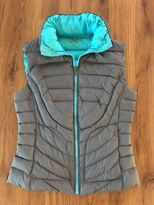 Women's BE By Blanc Noir Lightweight Gray Down Filled Winter Vest Size S