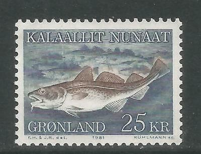 Greenland 1981 Local Marine Life 25kr--Attractive Topical (140) MNH