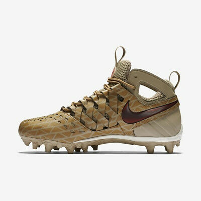 New Nike Huarache V Lacrosse Elite Cleats Khaki/Golden Beige/Red - Choose Size