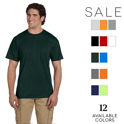 Gildan Mens DryBlend 5.6 oz. 50/50 Pocket T-Shirt G830 Size S-3XL