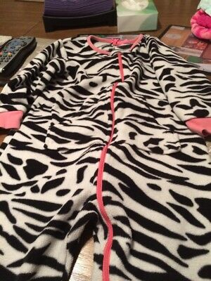 Next 3-4 Yr Old Girls Zebra Jumpsuit With Padded Feet