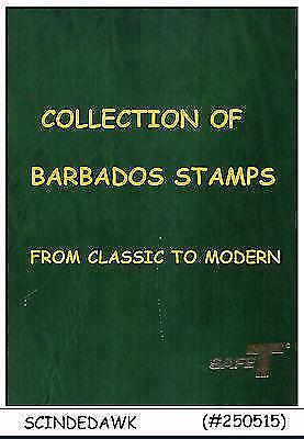 Collection Of Barbados Stamps From Classic To Modern In Stock Book