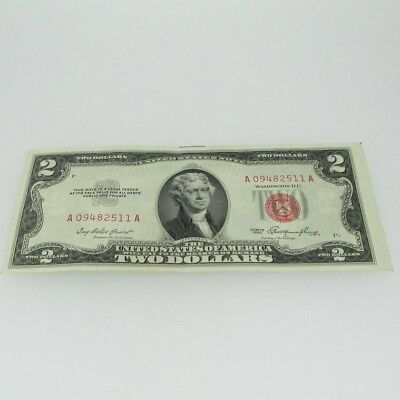 1953 Red Seal United States Two Dollar Note 600555