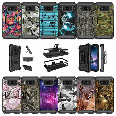 For Samsung Galaxy S8 Active SM-G892A Shockproof Clip Kickstand Case - Camos