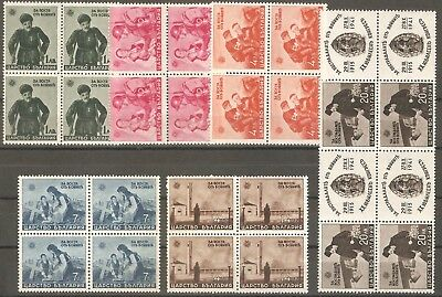 Bulgaria 1942 Mi# 456-461 WWII for victims of war block of 4 MNH** OG VF