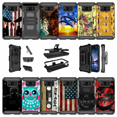 For Samsung Galaxy S8 Active SM-G892A Shockproof Holster Case Clip with Stand