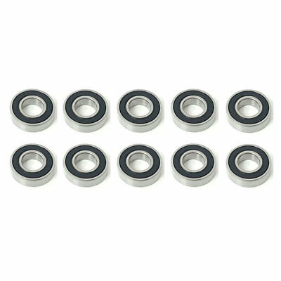 10x 6005 2RS Rubber Sealed Deep Groove Ball Bearings - 25x47x12 mm