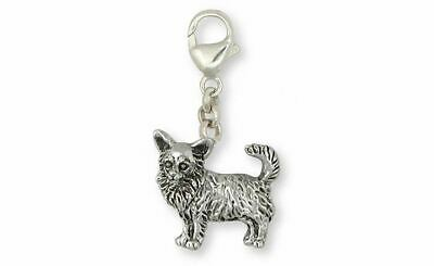Long Hair Chihuahua Zipper Pull Jewelry Sterling Silver Handmade Dog Zipper Pull