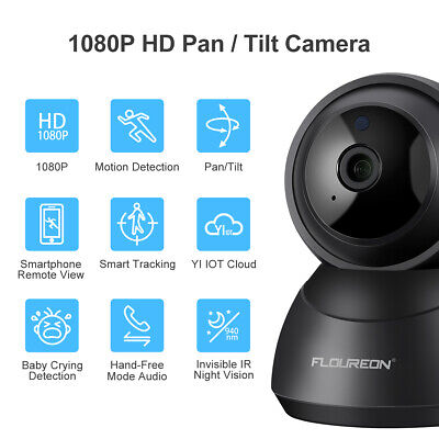2x 720P HD IP Camera Security WiFi Wireless PT Talk Audio Video Baby Pet Monitor