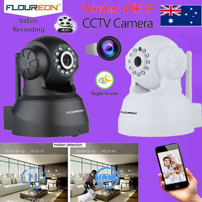 Wireless Wifi PT 720P HD IP Camera P2P CCTV Security System MIC SD Baby Monitor