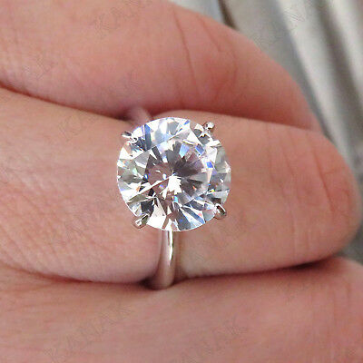 3 ct Round Cut Diamond 14k White Gold Four Claw Solitaire Engagement Ring