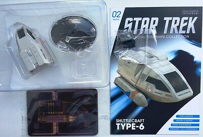 Star Trek TYPE-6 shuttle #2 von USS Enterprise NCC 1701 D Eaglemoss eng OVP
