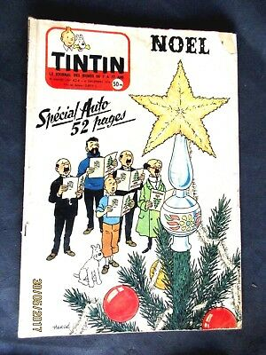BD Journal Tintin n° 424/ 6 décembre 1956 NOEL SPECIAL AUTO / COUV HERGE / B.E