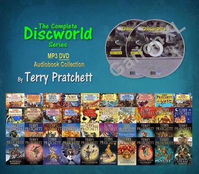 The Complete DISCWORLD Collection By Terry Pratchett (41 MP3 DVD Audiobooks)