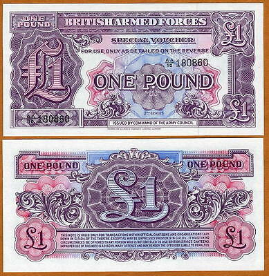 Great Britain, 1 pound, Armed Forces, ND (1948), M22, Military, UNC