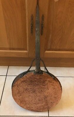 ANTIQUE GEORGIAN VICTORIAN FRANCE 18th CENTURY COPPER KITCHEN SKILLET PAN FRENCH