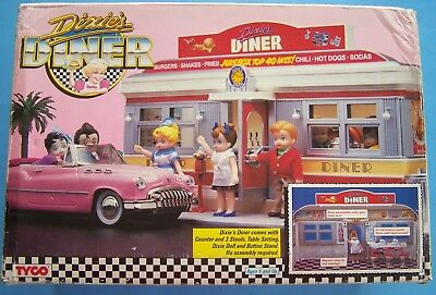DIXIE'S DINER TYCO PLAYSET w/DOLL,COUNTER-STOOLS  NRFB