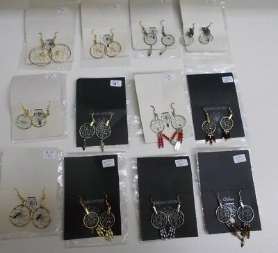 KW-599 98 PAIR Wholesale Lot of  Dream Catcher Earrings with Dangles 12 STYLES