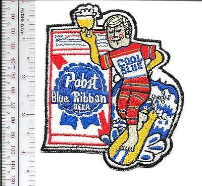 Beer Surfing Pabst Blue Ribbon Blond 'Cool Blue' Surfer 1970's Promo Patch