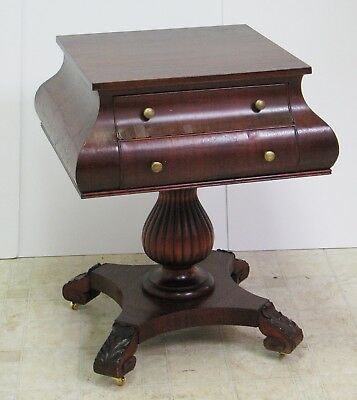 "Empire Mahogany ""PANTALOON"" Parlor Table w/2 drawers - VGC - (FREE DEL ?)"