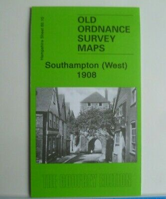 Old Ordnance Survey Maps Southampton West Hampshire 1908 Godfrey Edition