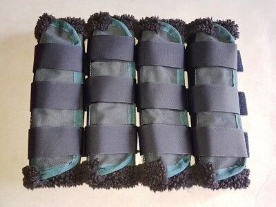Horse Bell Boots or  Over reach Jade green /& Purple AUSTRALIAN MADE Protection