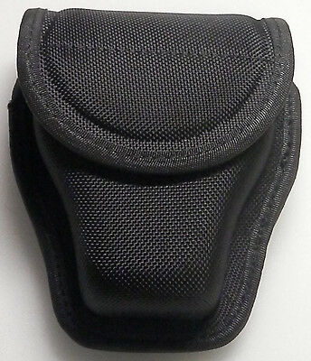 Ballistic Duty Gear Double Large Handcuff Cuff Case Black Nylon #1055