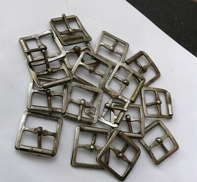 Vintage Small 20mm Metal Roller Belt Buckle Antique Nickel Replacement Strap