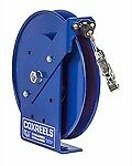 COXREELS SDH-100 Static Discharge Hand Crank reel w/ 100' of galvanized cable