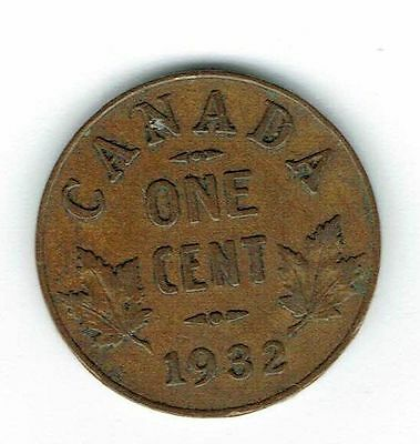 1932 Canadian Circulated George V One  Small Cent coin!