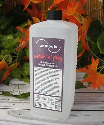 1 Litro Producto Analogis Wash'n'play Fluid Lavado Disco De Vinilo