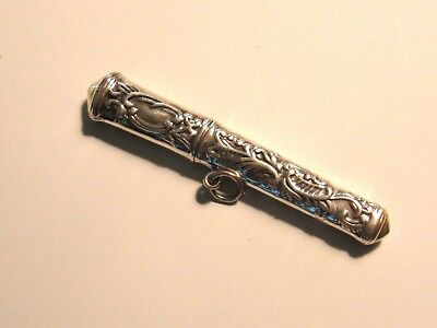 Paisley Fancy Sterling Silver Needle Case - New (Last Ones!)