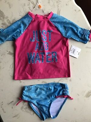 NWT OP Toddler Girl's  2 piece Bathing Suit Swimsuit UPF 50+ - Size 3T