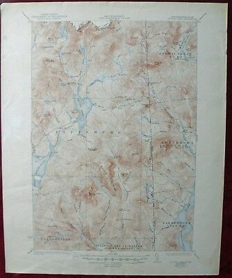 Map Dept Of Interior Geological Survey USGS 1932/1948 Second Lake NH Quadrangle