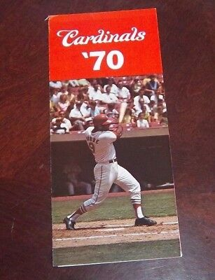 St Louis Cardinals ticket order and schedules Pamplet 1970