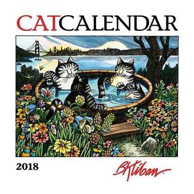 2018 Kliban Mini Wall Calendar,  Funny Cats by Pomegranate